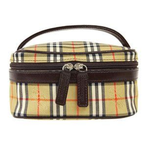 BURBERRY'S House Check Cosmetic Bag Pouch Purse Be